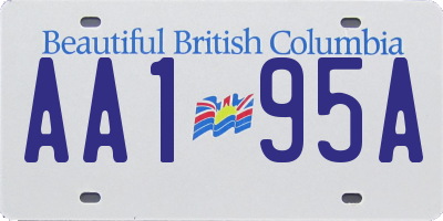 BC license plate AA195A