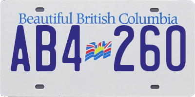 BC license plate AB426O