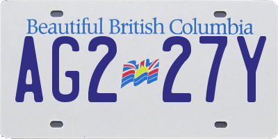 BC license plate AG227Y