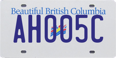 BC license plate AHO05C