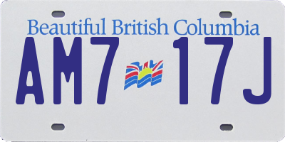 BC license plate AM717J