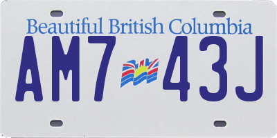 BC license plate AM743J