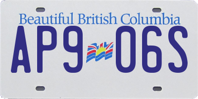 BC license plate AP906S