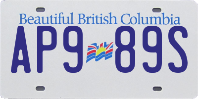 BC license plate AP989S