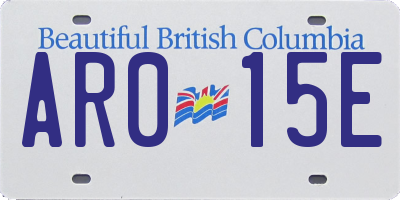 BC license plate AR015E