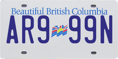 BC license plate AR999N