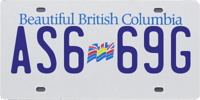 BC license plate AS669G
