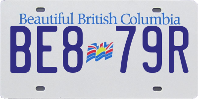BC license plate BE879R