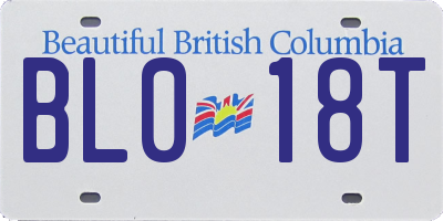 BC license plate BL018T
