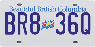 BC license plate BR836Q