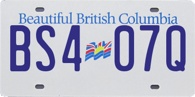 BC license plate BS407Q