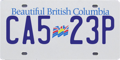 BC license plate CA523P