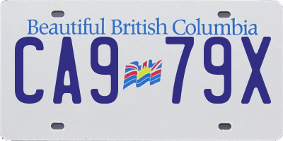 BC license plate CA979X