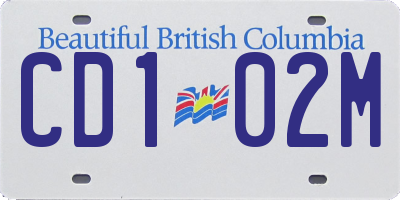 BC license plate CD102M