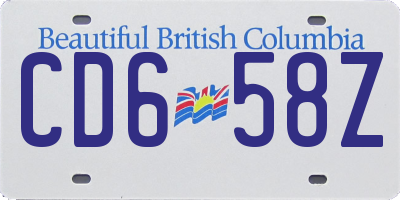 BC license plate CD658Z