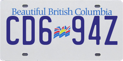 BC license plate CD694Z