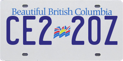 BC license plate CE220Z