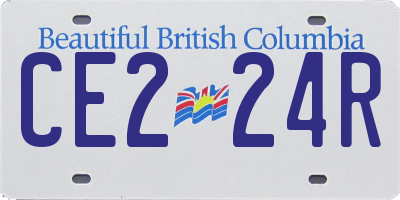 BC license plate CE224R