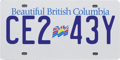 BC license plate CE243Y