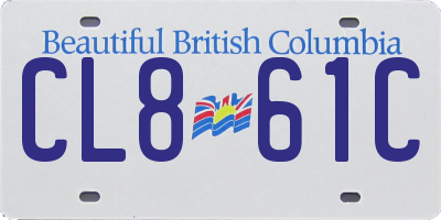 BC license plate CL861C