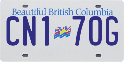 BC license plate CN170G