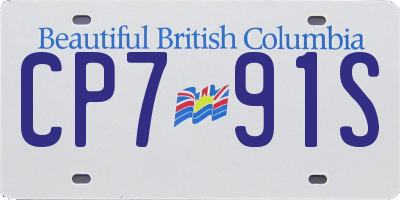 BC license plate CP791S