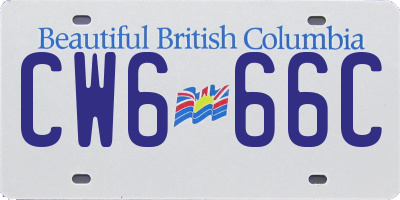 BC license plate CW666C