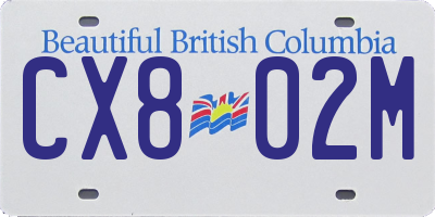 BC license plate CX802M