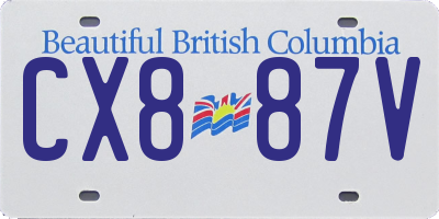 BC license plate CX887V