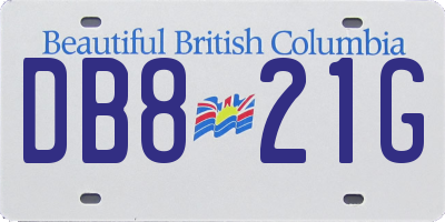 BC license plate DB821G