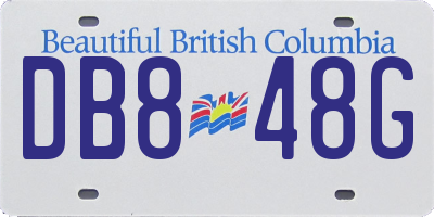 BC license plate DB848G