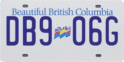 BC license plate DB906G