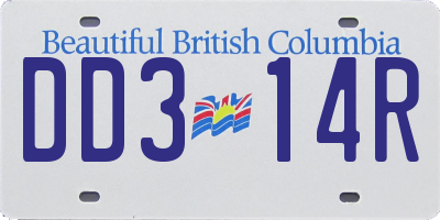 BC license plate DD314R