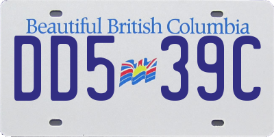 BC license plate DD539C
