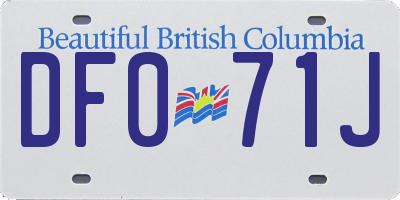 BC license plate DF071J
