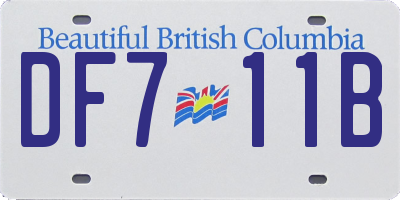 BC license plate DF711B