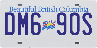 BC license plate DM690S