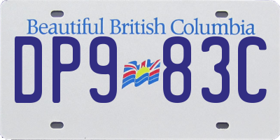 BC license plate DP983C
