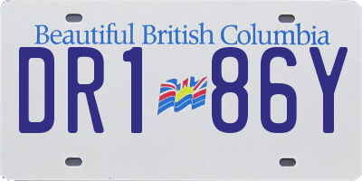 BC license plate DR186Y