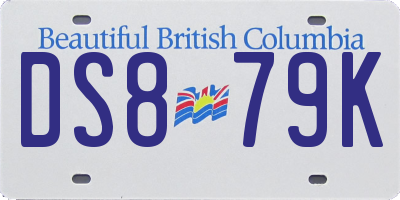 BC license plate DS879K