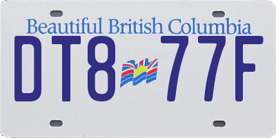 BC license plate DT877F