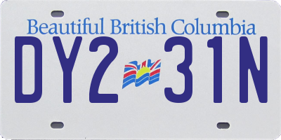 BC license plate DY231N