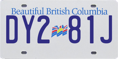 BC license plate DY281J