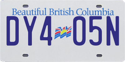 BC license plate DY405N