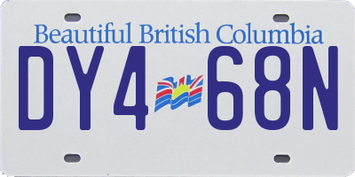 BC license plate DY468N