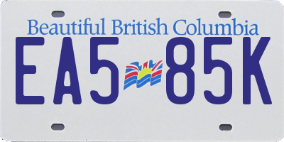 BC license plate EA585K