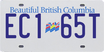 BC license plate EC165T