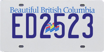 BC license plate ED2523