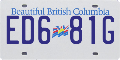 BC license plate ED681G
