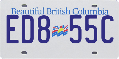 BC license plate ED855C